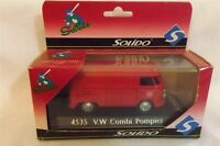 Solido Sixties 4535 V W Combi Pompier Bus 1/43 Scale Made In France In Box