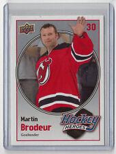 2008-09 MARTIN BRODEUR UPPER DECK HOCKEY HEROES #HH-17 ~ DEVILS