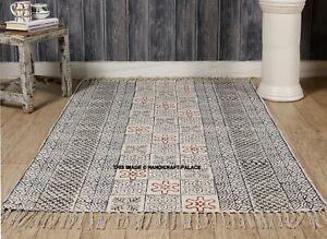 Large-Block-Print-Rug-Hand-Loomed-Mud-Cloth-Rug-Carpet-Handmade-Cotton-Area-Rug