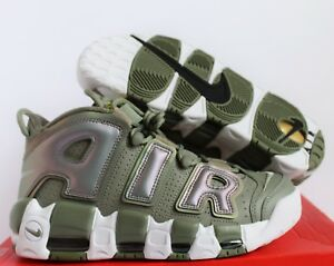quality design 98ff0 f19a5 Image is loading WOMENS-NIKE-AIR-MORE-UPTEMPO-DARK-STUCCO-WHITE-