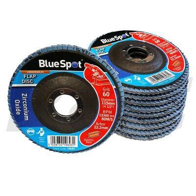 Blue Spot Tools 19693 60 Grit Zirconium Flap Disc