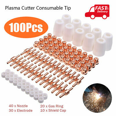 fit for CUT 100pcs PT-31 LG40 Plasma Cutter Torch Tip Nozzles Consumables Kit