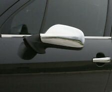 CHROME SIDE DOOR WING MIRROR TRIM SET SURROUNDS COVERS FOR PEUGEOT 307