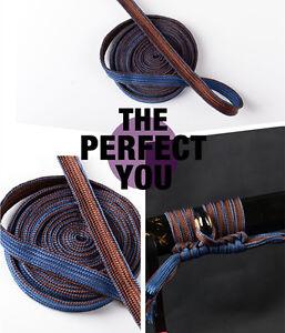 High quality Bicolourable Blue Coffee Silk Sageo cord For Japanese Samurai Sword