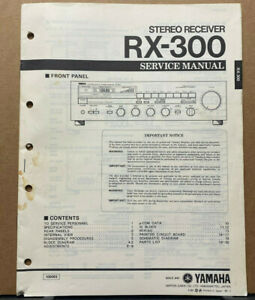 Original Yamaha Service Manual For Rx Model Receivers Select One Ebay