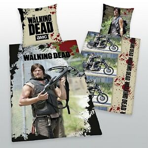 BETTWASCHE-THE-WALKING-DEAD-DARYL-DIXON-EXKLUSIVMODELL-100-BW-135x200CM-NEU-WOW