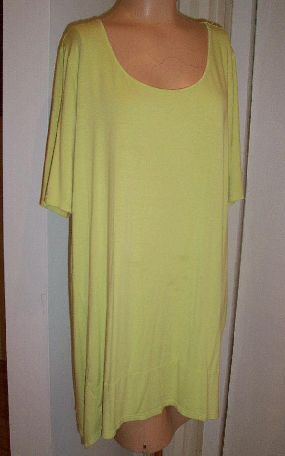 J JILL Wearever Lime Green Stretchy Jersey Casual Beach Dress Sz L EUC