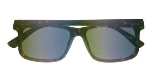 Brown Lens TB7153 52A Timberland Men Sunglass Matt Tortoise Plastic Square