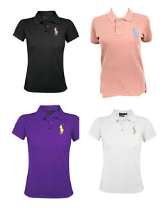 new product 93f69 abcdb Details about Ralph Lauren Womens The Skinny Polo Shirt Short Sleeve Big  Pony Cotton 91