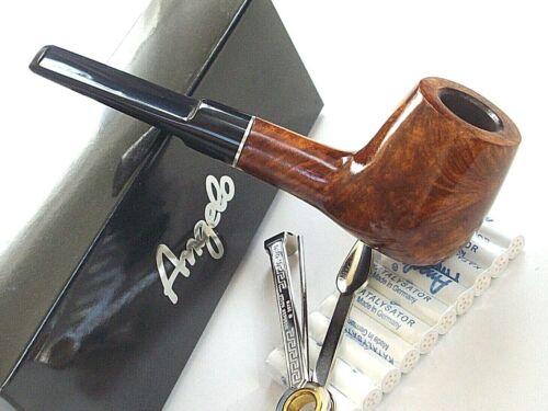Pfeifenfilter /& Stopfer Garda Nr.2 Angelo Bruyereholz-Pfeife Markenpfeife inkl