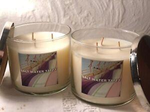 1 Bath /& Body Works SALT WATER TAFFY Large 3-Wick Candle