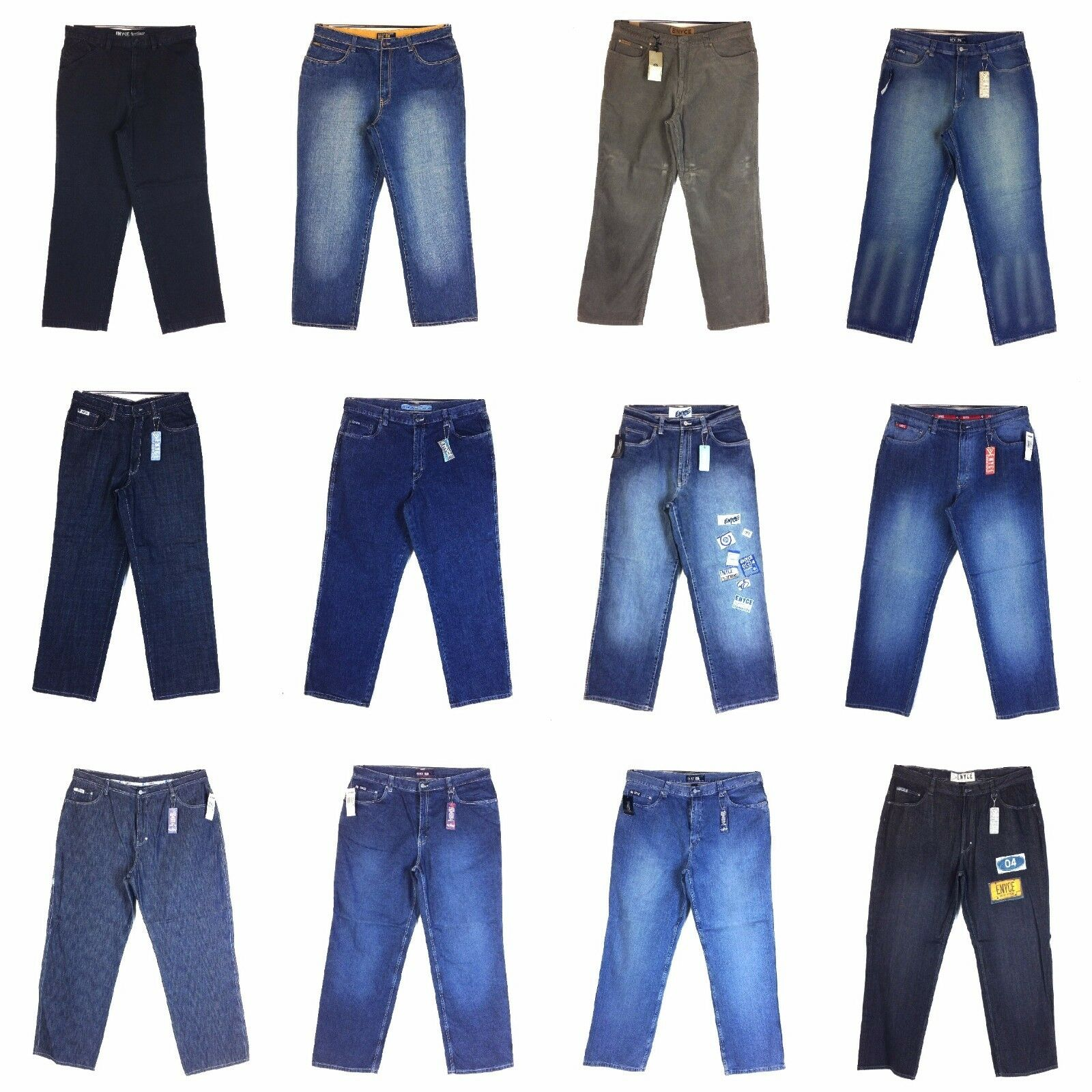 ENYCE MEN'S DESIGNER NEW JEAN, BAGGY,  ASSORTED STYLES GROUP (1),