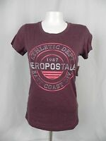 Aeropostale Women's Red Purple Athletic Depart Graphic Logo T-shirt (a1-19)