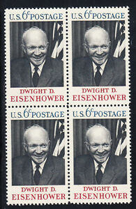 Image Is Loading Dwight D Eisenhower Stamp Block Of 4 Scott