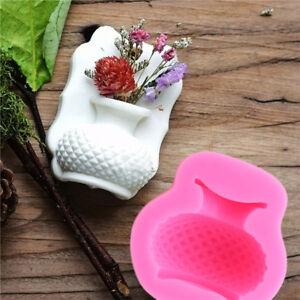Flower-Vase-Shape-Silicone-Fondant-Mould-Soap-Chocolate-Mold-Cake-Decoration-S