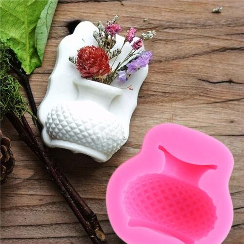 Vase Forme Silicone Fondant Moule Savon Chocolat Moule Gâteau Décoration S