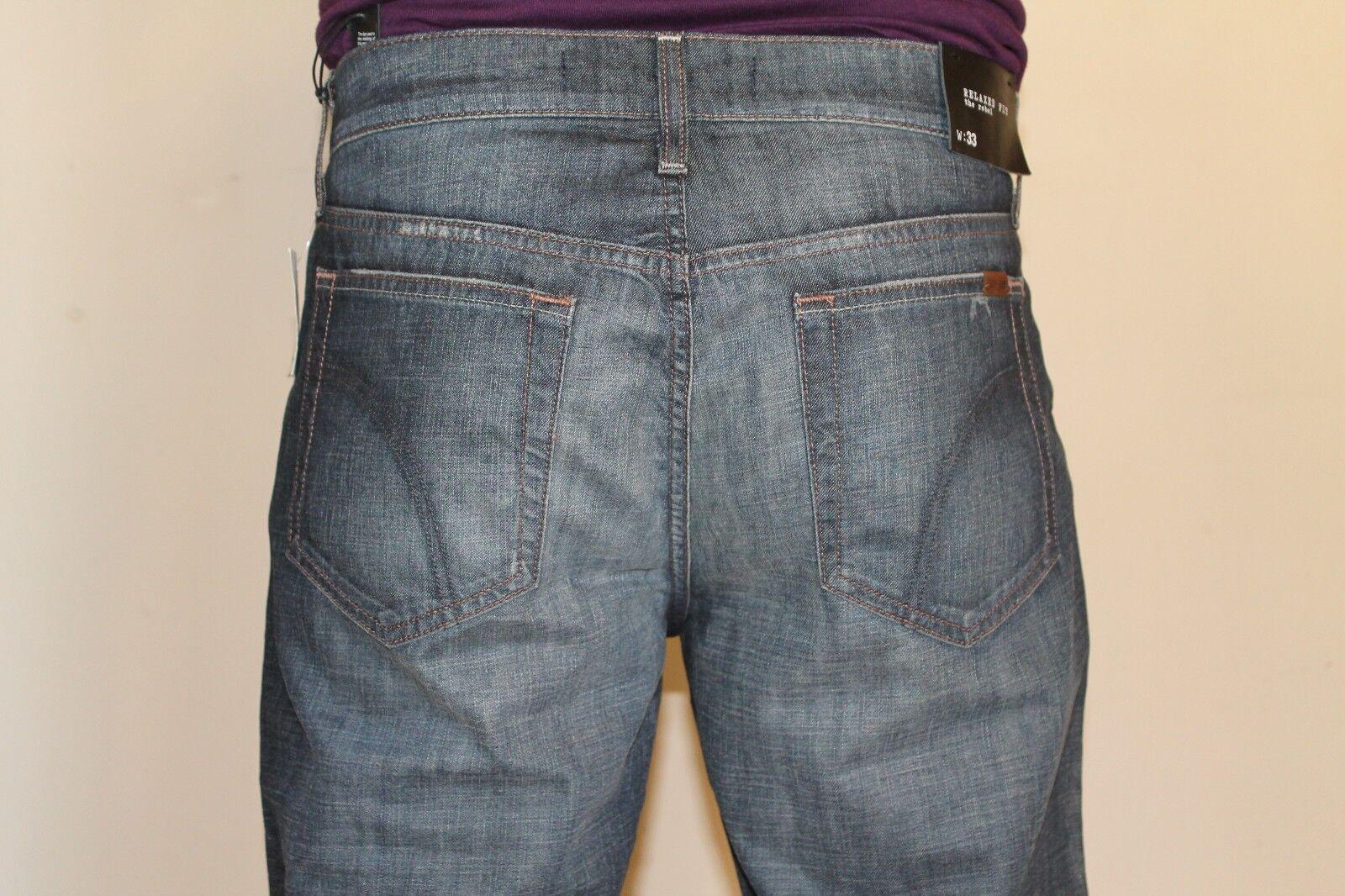 NWT Joe's Jean Men Trey Rebel Relaxed Fit Size 31X33, 33X33, 34X33