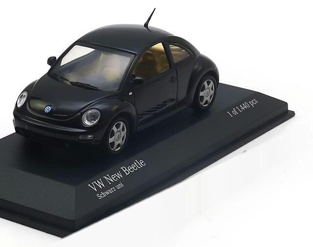 Très rare VW Beetle 1 C 2.0 L Coupé 1999 Noir 1 43 Minichamps 430058002