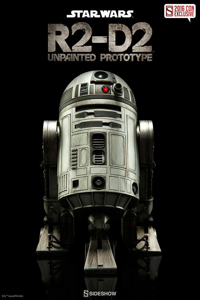 Star Wars R2-D2 Unpainted Prototype 1 6 Sideshow Collectibles 2016 Con Exclusive