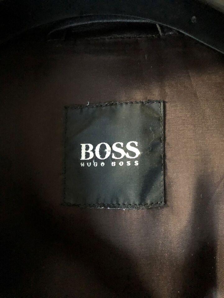 Læderjakke, str. L, Hugo Boss