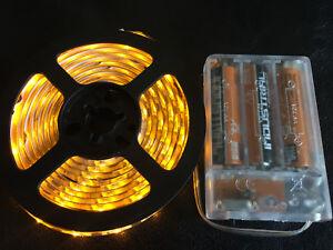 2m long 120 amber led aa battery powered waterproof led light image is loading 2m long 120 amber led aa battery powered aloadofball Image collections
