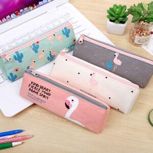 46676a3a5 La imagen se está cargando Lk-Papeleria-Escolar-Estuche-Estampados-Flamingo -Maquillaje-Cosmetico-