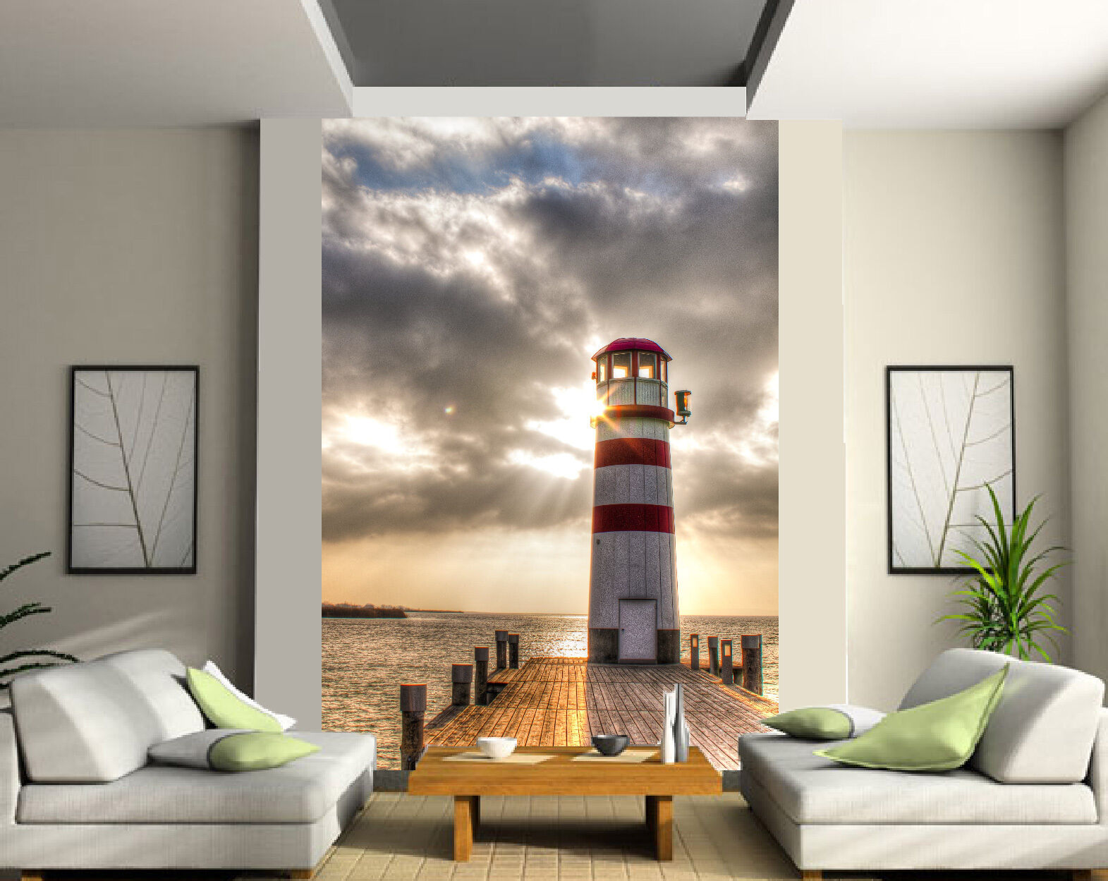 Papier peint 2 lés phare Breton 4745