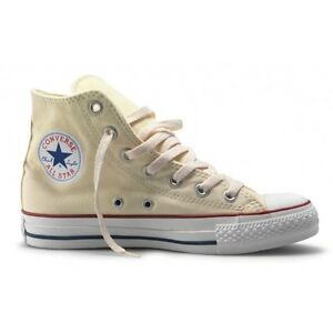 ecd4ea81bff6 Converse Hi Top All Star Chuck Taylor Off White Mens Womens Shoes ...