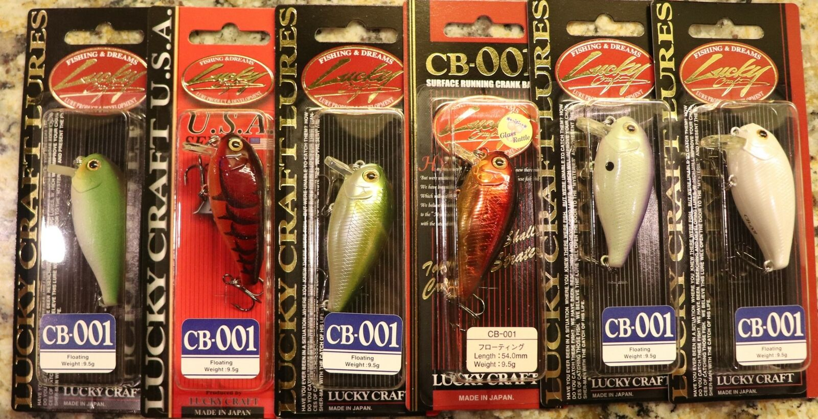 2 LUCKY CRAFT CB-001 CRANKBAITS FLOATING COLOR IS PEARL AYU NIP