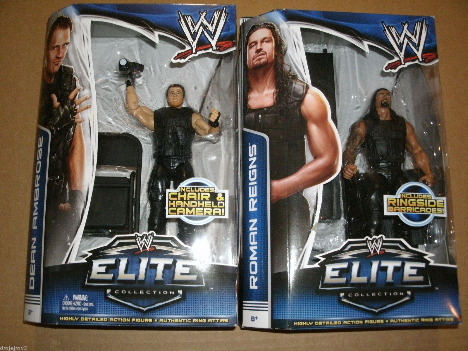 WWE ELITE 25 DEAN AMBROSE ROMAN REIGNS ELITE SERIES 26 MATTEL WRESTLING FIGURE