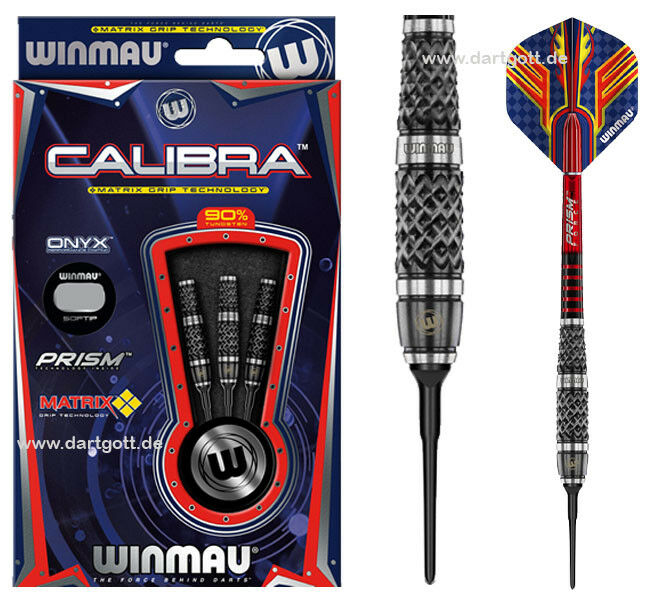 Winmau CALIBRA Softdarts 90% Tungsten Dartset - 20 gramm Darts - Dartset Profilevel 34c0a1