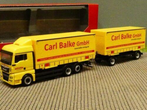 1//87 Herpa MAN TGX XLX Wechselgardinenplanen HZ Carl Balke GmbH 310222