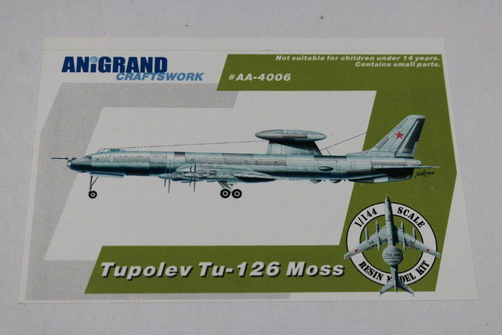 Zf1224 Anigrand Craftswork 1 144 Model Aircraft Aa4006 Tupolev Tu-126 Moss