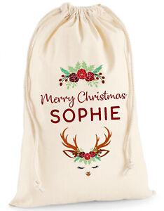Personalised-Christmas-Sack-Santa-Stocking-Present-Bag-Xmas-Girls-Gift