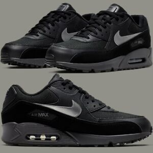 wholesale dealer detailed images good looking Details about Nike Air Max 90 Essential Black Thunder Sneakers Men's  Lifestyle Comfy Shoes