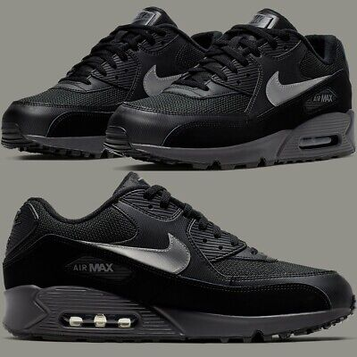Nike Air Max 90 Essential Black Thunder Sneakers Men's Lifestyle Comfy Shoes | eBay
