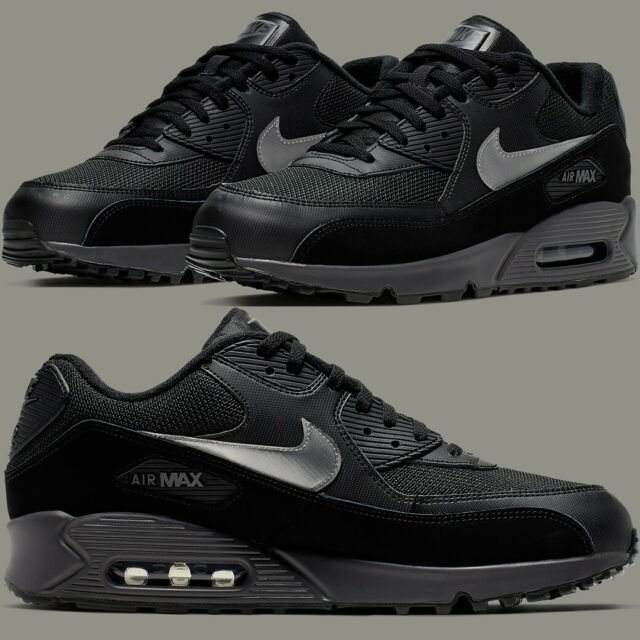 Nike Air Max 90 Essential Black Thunder Sneakers Men's Lifestyle Comfy Shoes