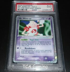PSA-9-MINT-Mr-Mime-Ex-110-112-Fire-Red-Leaf-Green-HOLO-RARE-Pokemon-Card