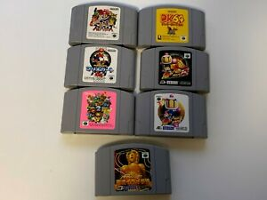 Nintendo64-Lot7-Game-soft-7-cartridges-only-JAPAN-NTSC-J-Japan-nintendo64