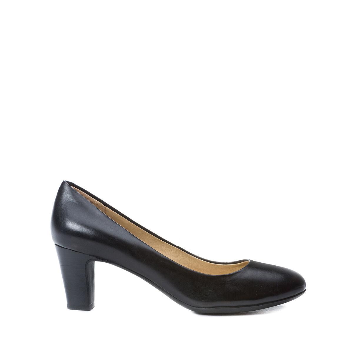 GEOX shoes women DECOLTE' IN VITELLO black TACCO MEDIO LINEA MARILENE