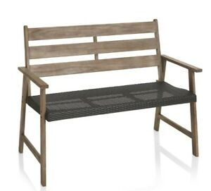 Groovy Details About Wilko Rustic Wooden Bench 0463942 Garden Bench Gmtry Best Dining Table And Chair Ideas Images Gmtryco