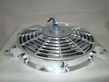 10 INCH LOW PROFILE CHROME HIGH PERFORMANCE THERMO FAN SILVER MOTOR