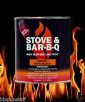 Stove Bright Fireplace Stove High Temp 1 Qt Brush On Paint Satin Black 62m290qt