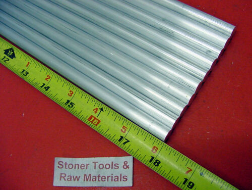 """10 pieces 5//8/"""" ALUMINUM 6061 ROUND ROD 18/"""" LONG T6511 .625 Solid Lathe Bar Stock"""
