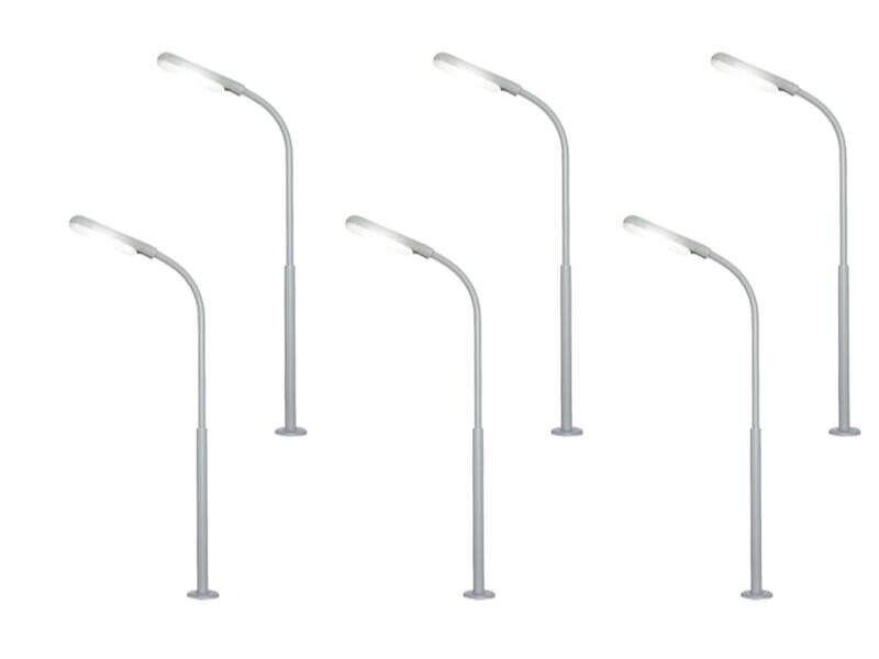 Viessmann 64906 fruste luce, 54mm, LED bianco, 6er-Set, Traccia N