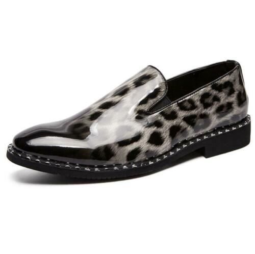 formelles Chaussures Patent On Dress plates Slip Leather Casual Leather Club Leopard xn0AqYwPw