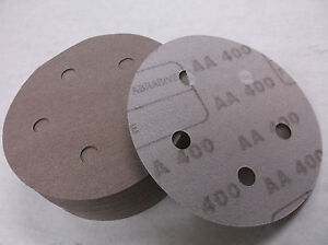 "5"" HOOK & LOOP Sanding Discs 5 Holes 400 Grit 50 pack (A14)"