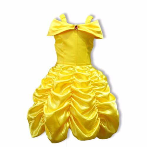 Girl Princess Dress Beauty and the Beast Belle Cosplay Costume Kids Clothes