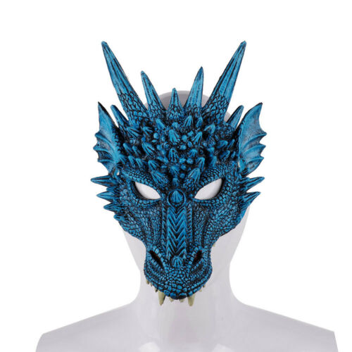 Game Of Thrones 8 Cosplay Dragon Mask 3D Animal PU Prop Mardi Gras Accessories