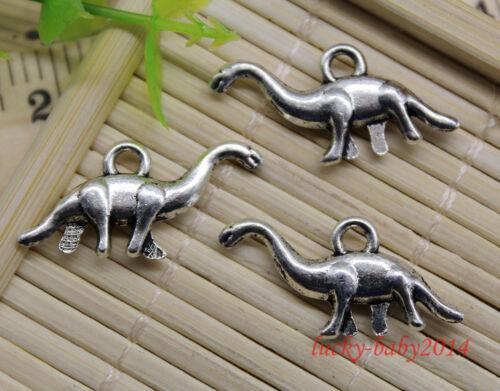 20//60pcs retro style Lovely Grass dragon alloy charm pendants DIY 27x13mm